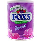 Nestle Fox's Crystal Clear Mix Berries Flavored Candy Tin (Imported), 180g
