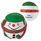 Snowman Stress Reliever - 150 Quantity - $2.85 Each - PROMOTIONAL PRODUCT / BULK / BRANDED with YOUR LOGO / CUSTOMIZED