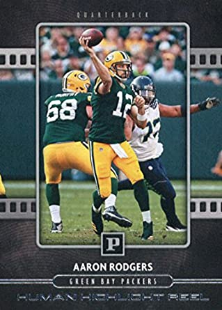 2018 Panini Human Highlight Reel  12 Aaron Rodgers Green Bay Packers  Football Card 9a5fc6b99