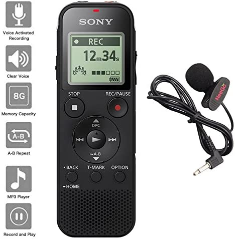 Recorder microSD Adjustable Microphone Lavalier product image