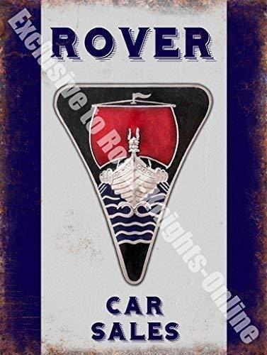 Rover Insignia Viejo Logo Coche Sales Garaje Vintage Anuncio ...