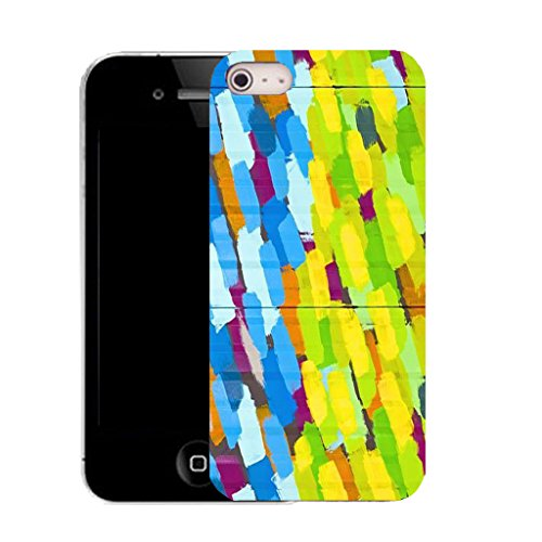 Mobile Case Mate IPhone 4 clip on Silicone Coque couverture case cover Pare-chocs + STYLET - painted brick pattern (SILICON)
