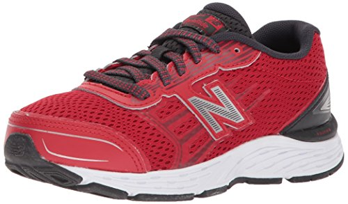 New Balance Boys' 680v5 Running Shoe, Team Red/Phantom, 4 M US Big Kid