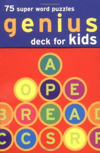 Genius Deck Word Puzzles - Genius Deck for Kids: 75 Super Word Puzzles (Genius Decks)