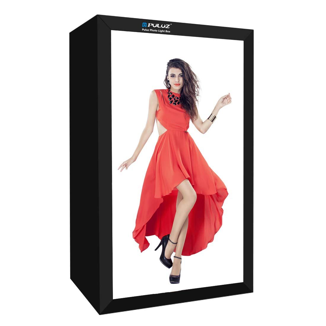 PULUZ Photo Studio Light Box Portable 200 X 120 X 80cm Light Tent LED 5500K Mini 240W Photography Studio Tent Kit with 1 Removable White Backdrop