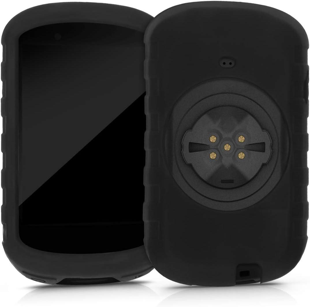 kwmobile Funda Compatible con Garmin Edge 830 - Carcasa de Silicona para GPS - Cover en Negro