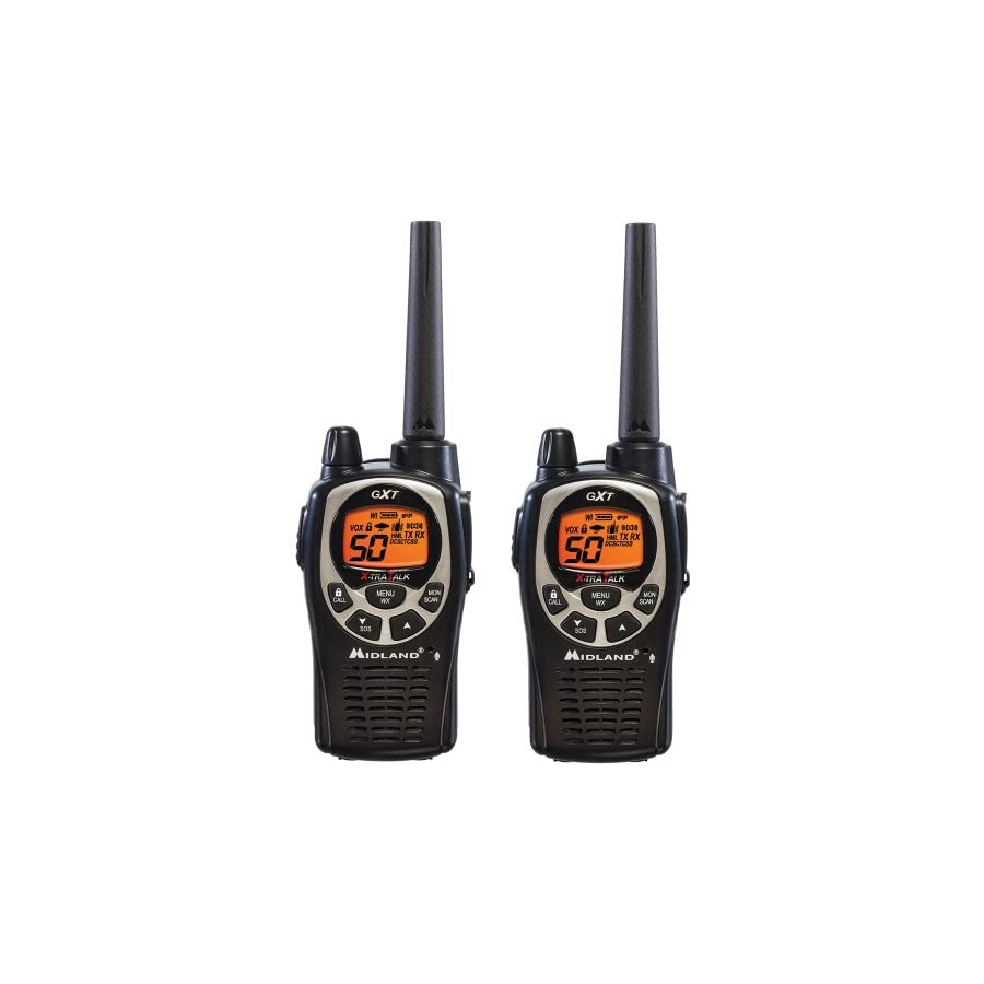 Midland Consumer Radio GXT1000AZ 36 Mile 50 Channel GMRS Two Way Radio Single Pack