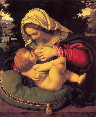 Amazon.com: Andrea Solari Madonna de la cojín verde c. 1507 ...