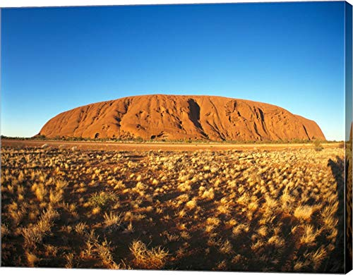 Ayers Rock, Uluru-Kata Tjuta National Park, Australia Canvas Art Wall Picture, Gallery Wrap, 15 x 12 inches
