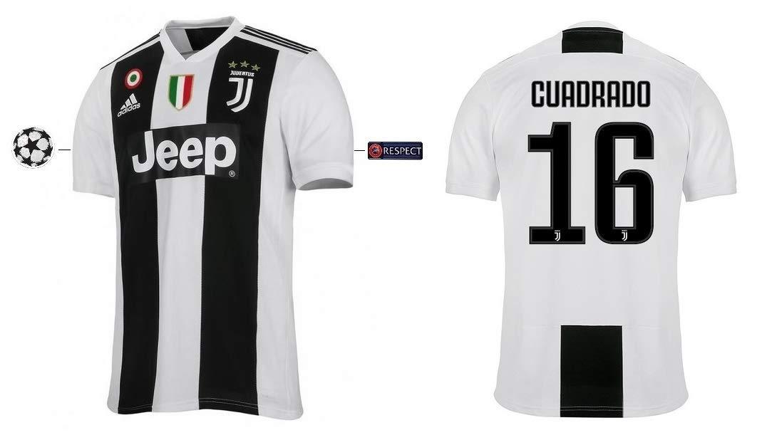Juventus Turin Trikot Kinder 2018-2019 Home UCL - Cuadrado 16