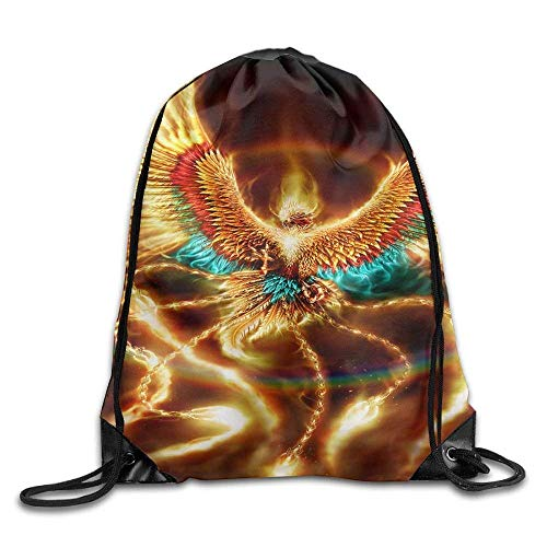 Divine Of Phoenix Gym Drawstring Backpack Unisex Portable Sack Bags (Arcteryx Pack Cover)