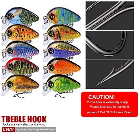 Fishing Lure 5.7cm//4.7g Mini Crankbait Hard Artificial Fishing Bait Hot V1Y7