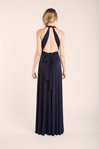 Amazon.com: Bridesmaid dress, navy blue bridesmaid dress, infinity navy blue dress, infinity dress, navy blue infinity dress, navy blue bridesmaid dress: ...