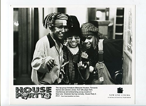 MOVIE PHOTO: House Party 3-Marques Houston, Fernando Santos, and Jerome Jones-8x10-B&W-Still