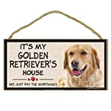 Imagine This Wood Breed Decorative Mortgage Sign, Golden Retriever