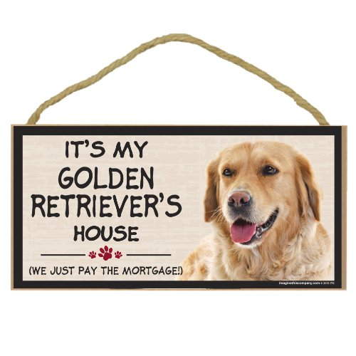 (Imagine This Wood Breed Decorative Mortgage Sign, Golden)