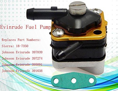 Fuel Pump for Johnson,Evinrude Fuel Pump18-7350 6hp 8hp 9 9hp 15hp Engine  Motor