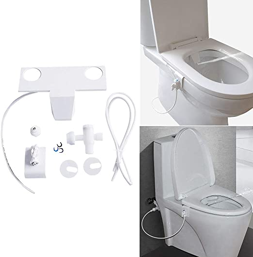 Amazon Com Non Electric Bidet Bidet Toilet Seat Attachment With Self Cleaning Single Nozzles Manual Control Bidet Fresh Water Sprayer For Rear And Female Wash Home Kitchen