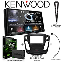 """Kenwood Excelon DNX994S 6.95"""" WVGA Navigation Receiver, iDatalink Maestro KIT-FOC1 Dash kit for 2012-2018 Ford Focus, ADS-MRR Interface Module and BAA22 Antenna Adapter and a SOTS Lanyard"""
