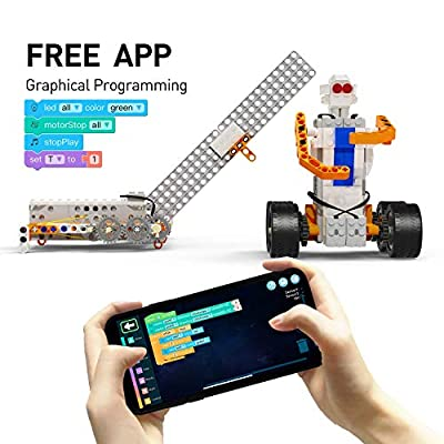 Apitor SuperBot, Educational Building Block 18 in 1 Robot Kit, STEM Coding Learning Toy, APP Remote Control, Ideal Gift for Kids 8+, Compatible with Major Building Block Toys (400+ Pieces): Toys & Games