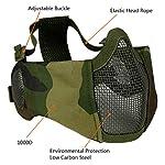 Masque Pliable Airsoft Mesh avec Protection Oreille et Casquette de Baseball Réglable Set pour CS/Chasse/Paintball/Tir 14