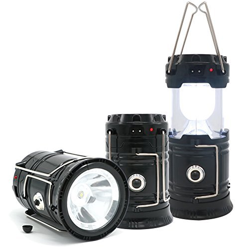 ARTER Led Solar Camping Lantern with USB Emergency Power Bank and Flashlight for Emergency, Tent Light, Backpacking, Outdoor, Hiking