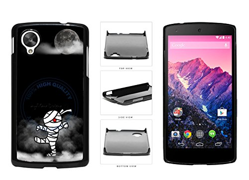 [Mummy Vector In The Sky With Moon Plastic Phone Case Back Cover For LG Google Nexus 5 D820 comes with Security Tag and myPhone Designs(TM) Cleaning Cloth] (Google Halloween Costumes)