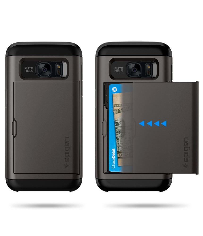 newest 1216b 0c9aa Spigen Slim Armor CS Designed for Samsung Galaxy S7 Case (2016) - Gunmetal