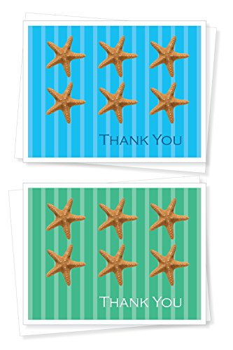 Starfish, Thank You Note Cards - Set of 10 Greeting ()