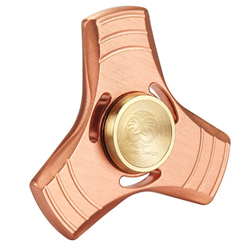 Woocon Fidget Spinner Metal, UFO Pure Copper Tri Hand Spinner, Customized Spinner Bearing Quiet Smooth Spin