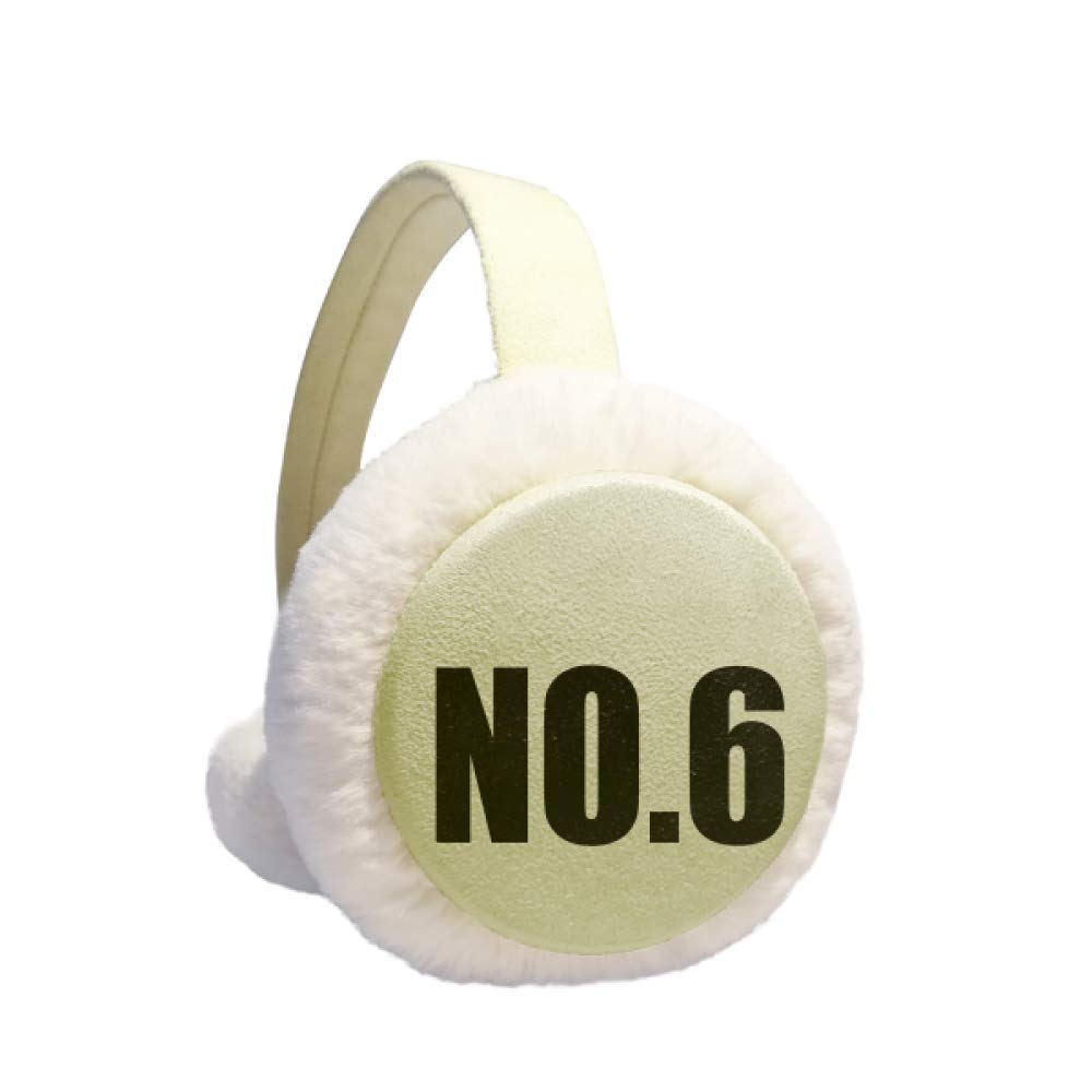 Lucky No.6 Number Name Winter Warm Ear Muffs Faux Fur Ear