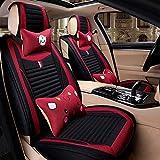 Cushion Adult Car Seat Cushion, Comfortable and Breathable Four Seasons Universal Linen Car Interior Seat Cushion Car Accessories Cushion (Color : G)