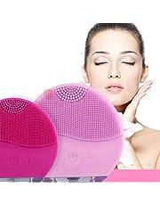 Esponja Massageadora Para Limpeza Eletrica E Massageador Aparelho Escova De Limpeza Facial (rosa)