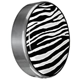 MasterSeries - Continental Tire Cover Kit (245/75R16 ) - (Molded Plastic Face & Polished Stainless Ring) - Zebra Print