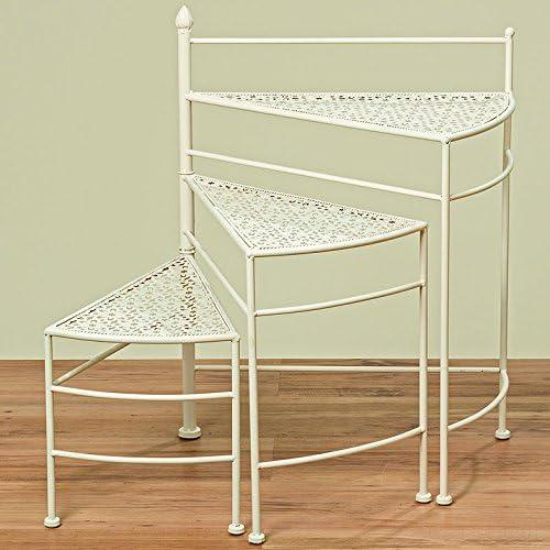 Unbekannt Soporte Escalera para Plantas y Macetas de Metal Beige con 3 Diferentes Alturas Alto 65cm: Amazon.es: Jardín