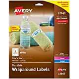"""Avery Wraparound Water Bottle Labels for Laser & Inkjet Printers, 1.25"""" x 9.75"""", 40 Labels (22845)"""