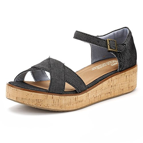 Toms Womens Harper Wedge Sandal