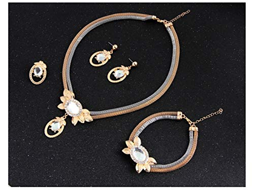 Yuchoi Girl Jewelry Retro Clavicle Necklace Earrings Necklace by Yuchoi (Image #2)