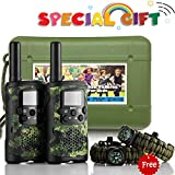 Walkie Talkies for Kids Greaval 22-Channel FRS/GMRS Handheld Two Way Radio for Children with Flashlight and LCD Display - Best Gifts for Kid's Birthday Christmas Case Packed(2 Pack)