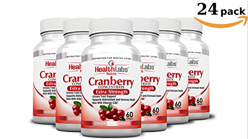 Health Labs Nutra 50:1 Triple-Strength Cranberry Concentrate 24-Month Supply with Vitamins C & E – Promotes Urinary Tract and Immune Support- (Pack of 24) by Health Labs Nutra