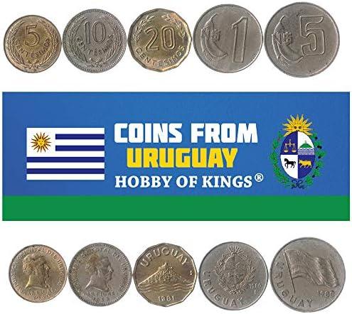 5 Monedas Diferentes - Moneda extranjera uruguaya Antigua y Coleccionable para coleccionar Libros - Conjuntos únicos de Dinero Mundial - Regalos para coleccionistas: Amazon.es: Juguetes y juegos