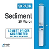 water purifiers for puerto rico PWP Sediment Water Filter Cartridge Spun Poly RO Whole House 20 Micron 20x2.5 50 Pack