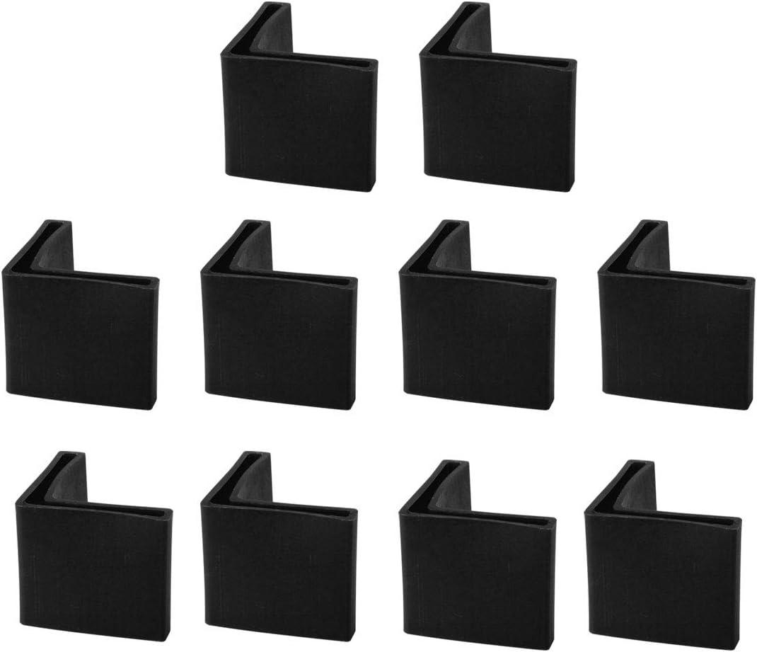 4 Zoll Stuhlbeine Quadrat Wei/ß 8 bis 1-3 Ezprotekt 24PCS Stuhlbeinschoner Silikon Stuhlbeinkappen M/öbelf/ü/ße Tassen Abdeckungen M/öbel Pads Bodenschutz Geeignet f/ür 35 bis 45 mm 1-3