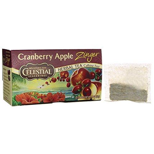 Celestial Seasonings Cranberry Apple Zinger Herbal Tea, 20 Count