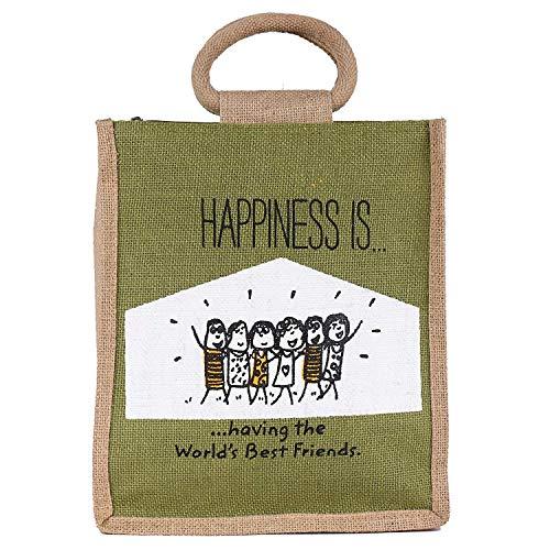 ECOTARA Jute Lunch/Tiffin Bag  Olive