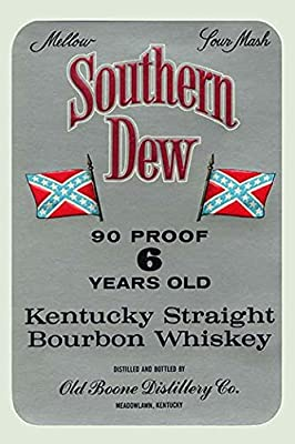 "Buyenlarge 0-587-23012-6-P1218 ""Southern Dew Kentucky Straight Bourbon Whiskey"" Paper Poster, 12"" x 18"""