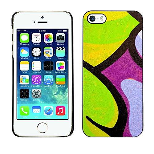 Premio Sottile Slim Cassa Custodia Case Cover Shell // V00002301 Graffiti // Apple iPhone 5 5S 5G