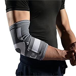 Liveup SPORTS Elbow Brace Compression Support Sleeve, Elbow Brace Compression Support Sleeve with Adjustable Elastic Bandage for Tendonitis Tennis Golf Elbow Treatment, L