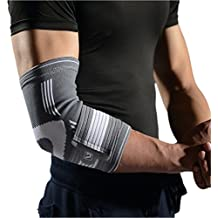 Elbow Brace Compression Support Sleeve - Elbow Sleeve with Adjustable Elastic Bandage for Tennis Elbow, Golfers Elbow, Tendonitis, Arthritis, Weightlifting, Joint Pain Relief, Injury Recovery