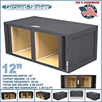 12 Dual Solo Baric Vented Slot Ported Sub Box MDF Subwoofer Enclosure